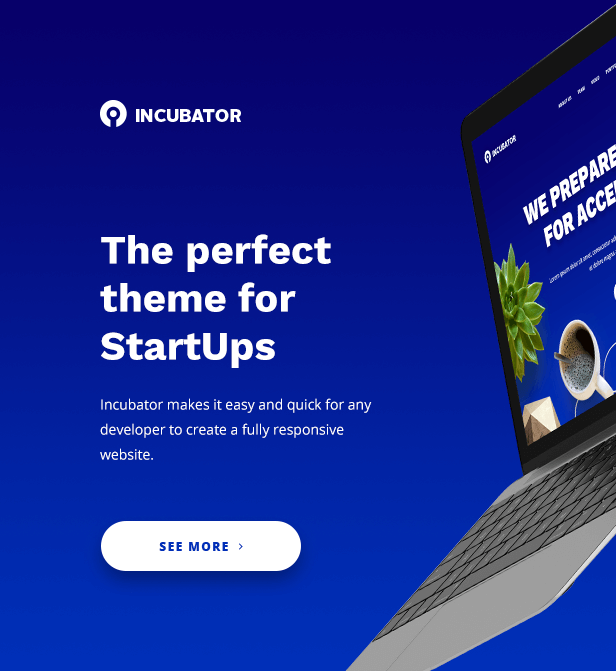 Pre designed website template details mjs web solutions mjs web incubator wordpress startup business theme spiritdancerdesigns Gallery