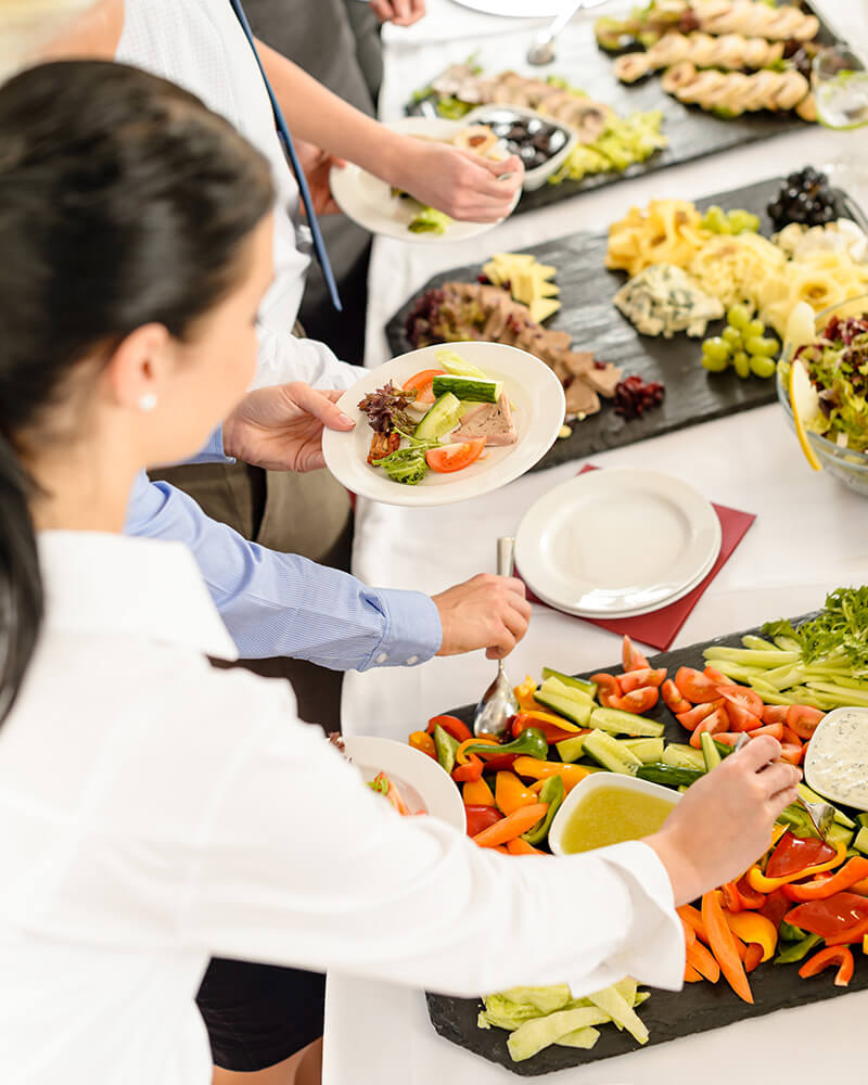 Catering holiday buffet
