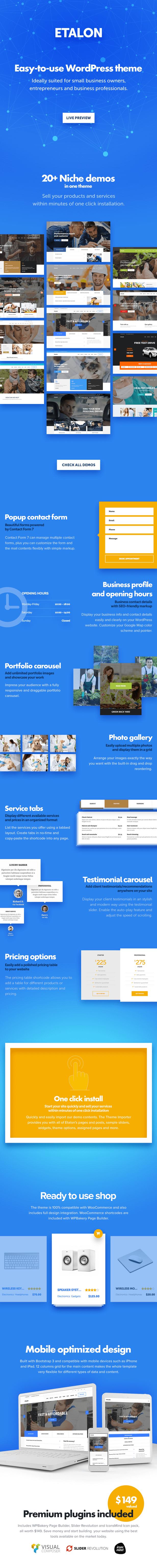 Etalon - Multi-Concept Theme for Professional Services - 1